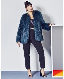 Simply Be Faux Fur Coat